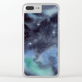 Galaxy Painting Clear iPhone Case