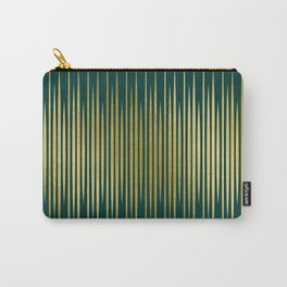 Linear Gold & Emerald Carry-All Pouch