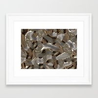 metallic Framed Art Prints featuring Metallic by LoRo  Art & Pictures