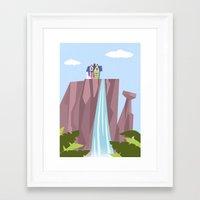 pixar Framed Art Prints featuring Pixar/Disney Up (Print 1) by Teacuppiranha