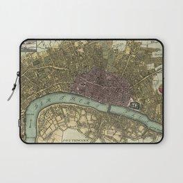 Vintage Map of London England (1740) Laptop Sleeve