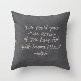 Nietzsche on Rising Anew Throw Pillow