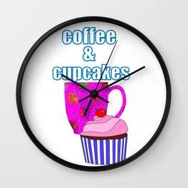 Coffee Break And Cupcakes Wall Clock