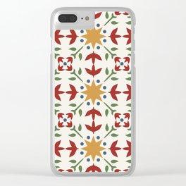 Starflower Quilt Pattern Clear iPhone Case