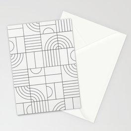 My Favorite Geometric Patterns No.19 - White Stationery Cards