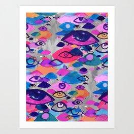 Ocular Confetti Art Print