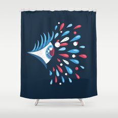 Dark Psychedelic Eye With Colorful Tears Shower Curtain
