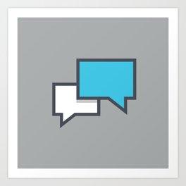Chat 1 Art Print