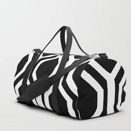 Black and White Geometric Duffle Bag