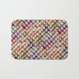 Multicolored vichy squares pattern Bath Mat