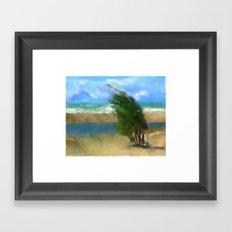 Windy Day/ Lake Huron Framed Art Print