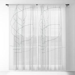 Landscape Sketch Sheer Curtain
