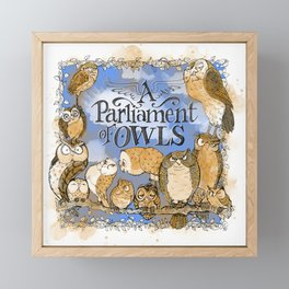 A Parliament of Owls Framed Mini Art Print