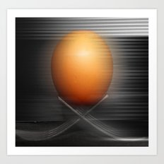 Egg on the move Art Print
