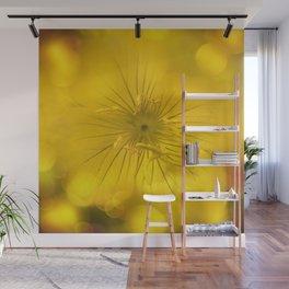 Yellow Bokeh Flower Wall Mural