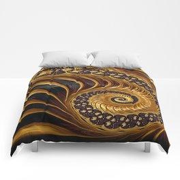 Elegant Black Gold Shell Comforters