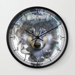 Wolf - Spirit Animal Wall Clock