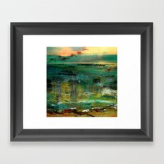 between sky and sea Framed Art Print