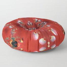 SeaShell Pearls Vermilion Floor Pillow