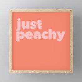 Just Peachy Framed Mini Art Print