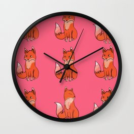 Honest Fox Wall Clock