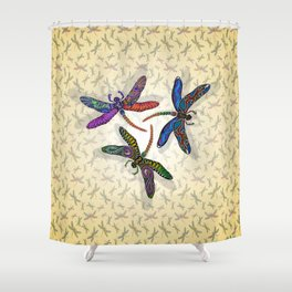 DRAGONFLY CIRCLE 2 Shower Curtain