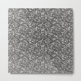 Gray Army Camouflage Metal Print