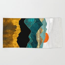 Turquoise Vista Beach Towel