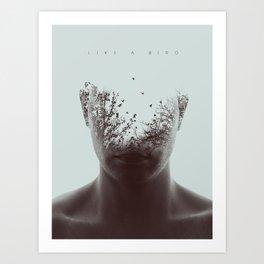 Like a bird Art Print
