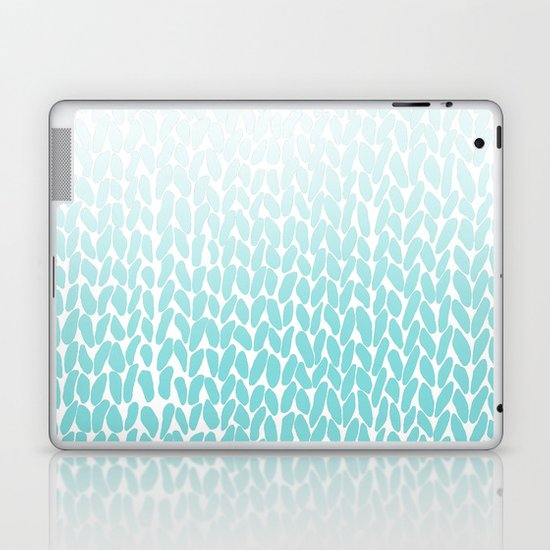 Hand Knitted Ombre Teal Laptop & iPad Skin
