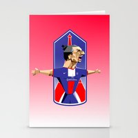 """zlatan Stationery Cards featuring """"I am Zlatan"""" by Miguel Angel Illustrations"""
