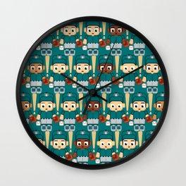 Baseball Teal and Grey - Super cute sports stars Wall Clock
