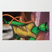 rio de janeiro Area & Throw Rugs featuring RIO DE JANEIRO by Alien Style