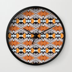 Orange and Neon Wall Clock