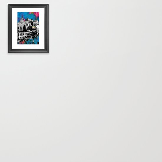 Paint The Town Framed Art Print