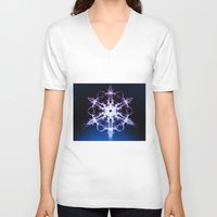 stargate V-neck T-shirts featuring Stargate by Françoise Reina
