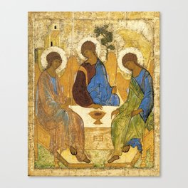 The Holy Trinity By Andrei Rublev Canvas Print