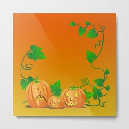 Pumpkins with personality Metal Print