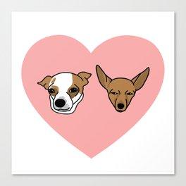 I heart Chihuahuas Canvas Print