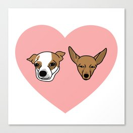 I heart Chihuahuas Canvas Print