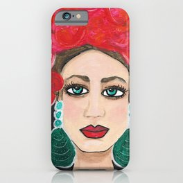 Rosie Life of the Party Original Senorita Portrait Painting iPhone Case