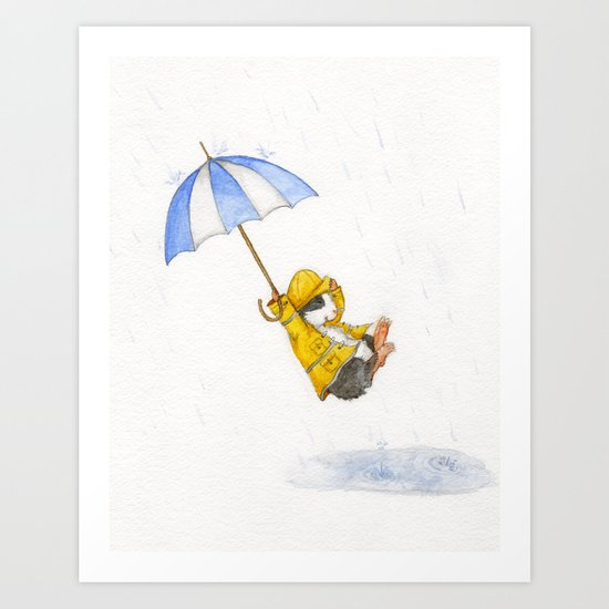 Puddle Jumping Art Print