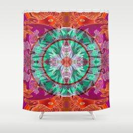 Boujee Boho Queen Mandala Shower Curtain