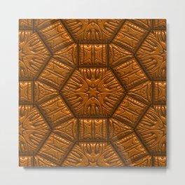 Intriguing shimmering Star Pattern,terra Metal Print