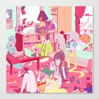 """study Canvas Prints featuring """"Study"""" by Serene World"""