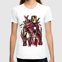 ironman T-shirts featuring Ironman by Dragon_xD