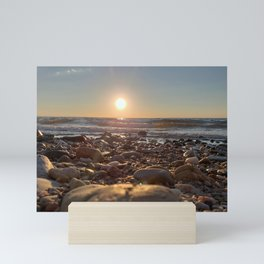 Majestic Beach Sunset Mini Art Print