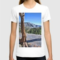 yosemite T-shirts featuring Yosemite park by Claude Gariepy