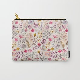 Light floral Carry-All Pouch
