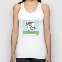 lighthouse Tank Tops featuring Lighthouse by Masonic Comics